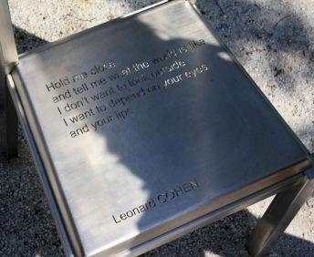 La chaise de Léonard Cohen