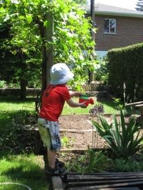 Poupou jardine.