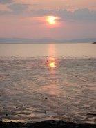 Le coucher de soleil de Kamouraska.Thérapeutique. Août 2007.