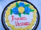 Notre gâteau de vacances souper de filles chez mon amie Jo