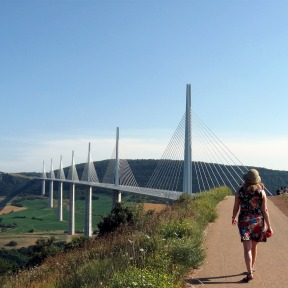 Le viaduc de Millau, juillet 2013.