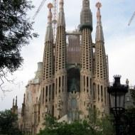 La SAgrada Familia, Barcelone, juillet 2013.