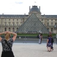 Moment de grâce en arrivant au Louvres.